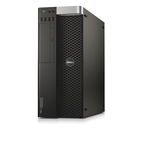 Workstation DELL Precision T5810 Tower, Intel 4 Core Xeon E5-1620 v3 3.5 GHz; 32 GB DDR4 ECC; 500 GB SSD SATA; DVDRW; Placa Video nVidia Quadro K2200, 4 GB GDDR5; Windows 10 Pro; 3 Ani Garantie, Refurbished - imaginea 1