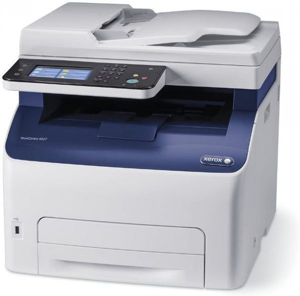 Imprimanta Multifunctionala Laser Color Xerox WorkCenter 6027, A4, 25.000 pagini/luna, 1200 x 2400 DPI, Wi-Fi, USB, Fax, Network, Scanner, Pagini printate: 0 - 50.000, Tonere Noi, Garantie, Refurbished - imaginea 1
