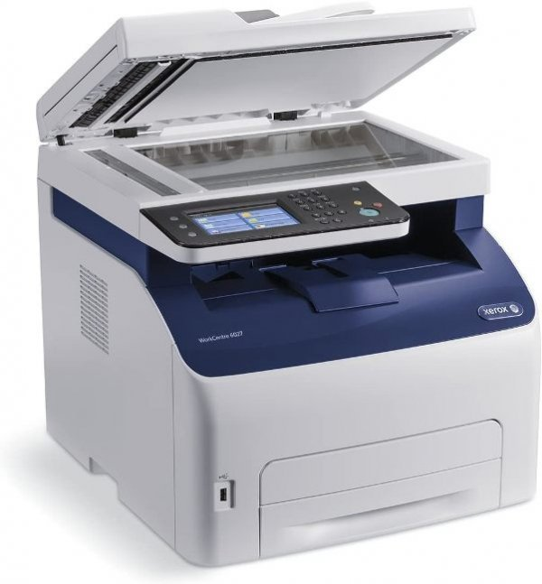 Imprimanta Multifunctionala Laser Color Xerox WorkCenter 6027, A4, 25.000 pagini/luna, 1200 x 2400 DPI, Wi-Fi, USB, Fax, Network, Scanner, Pagini printate: 0 - 50.000, Tonere Noi, Garantie, Refurbished - imaginea 2