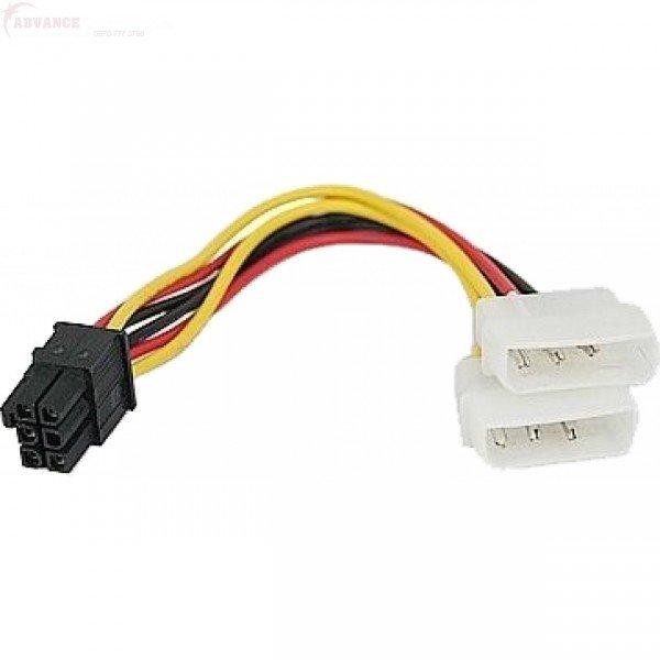 Cablu Alimentare Placa Video de la 2 X Molex la 6 pini - imaginea 1