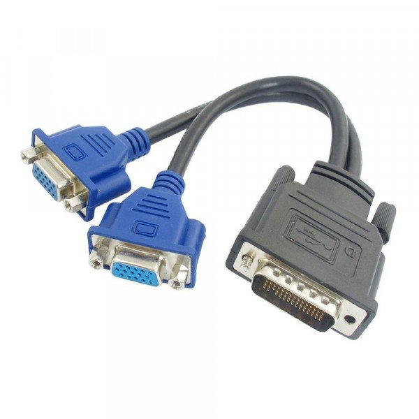 Adaptor DMS-59 la 2 X VGA - imaginea 1