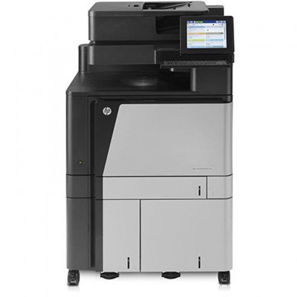 Imprimanta multifunctionala LaserJet Enterprise Color HP Flow M880 MFP, A3, 25.000 pagini/luna, 1200 x 1200 DPI, Duplex, USB, Fax, Network, TouchScreen, ADF, Scanner, Pagini printate 100.000 - 200.000, 2 Ani Garantie, Refurbished - imaginea 1