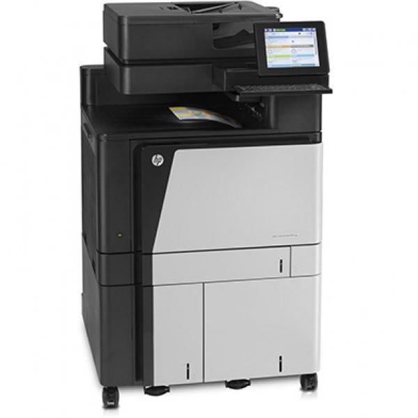 Imprimanta multifunctionala LaserJet Enterprise Color HP Flow M880 MFP, A3, 25.000 pagini/luna, 1200 x 1200 DPI, Duplex, USB, Fax, Network, TouchScreen, ADF, Scanner, Pagini printate 100.000 - 200.000, 2 Ani Garantie, Refurbished - imaginea 2