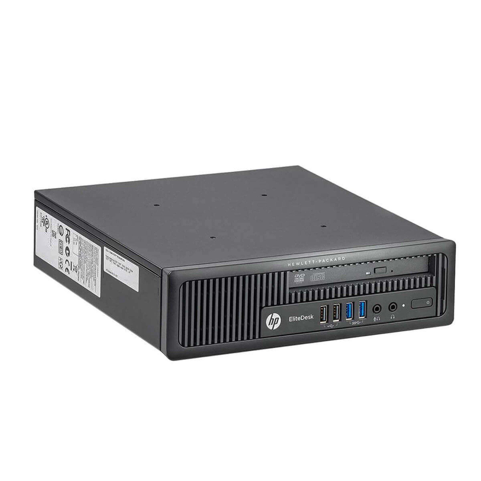 Calculator HP EliteDesk 800 G1, Desktop USDT, Intel Core i5 4570S 2.9 GHz, 8 GB DDR3; 250 GB SSD SATA; Windows 10 Home; 3 Ani Garantie, Refurbished - imaginea 1