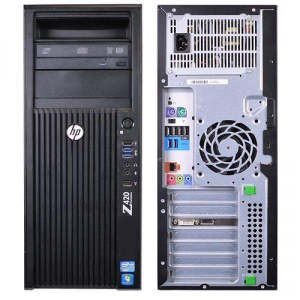 Workstation HP Z420 Tower, Intel 4 Core Xeon E5-1603 2.8 GHz, 8 GB DDR3 ECC; 128 GB SSD SATA; Placa Video nVidia GeForce GT 710, 2 GB DDR3; DVDRW; Windows 10 Pro; 3 Ani Garantie, Refurbished - imaginea 2