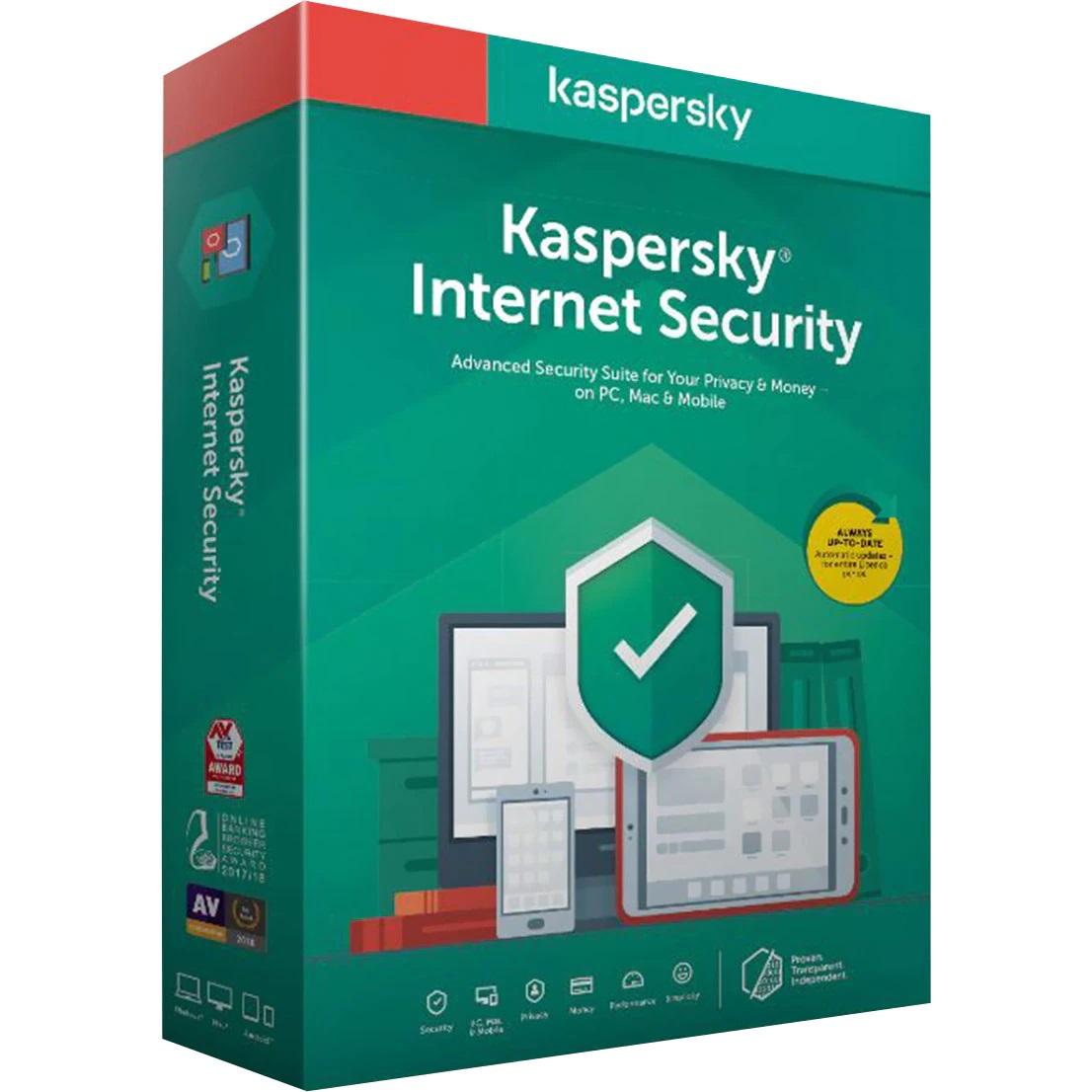 Licenta Retail Kaspersky Internet Security, 1 An, 1 Dispozitiv - imaginea 1