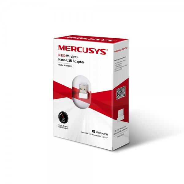 Adaptor retea wireless, Mercusys N150, 150 Mbps, USB 2.0 - imaginea 1