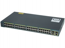 Switch Refurbished Cisco Catalyst 2960 Plus, WS-C2960+48TC-S, 48 x 10/100 Mbps , 2 x SFP Lan Lite