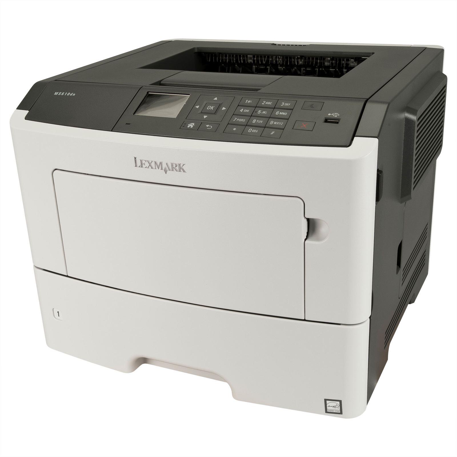 Imprimanta LaserJet Monocrom Lexmark MS610dn, A4, 16.000 pagini/luna, 1200 x 1200 DPI, Duplex, Network, USB, Pagini Printate 50k-100k, 2 Ani Garantie, Refurbished - imaginea 1