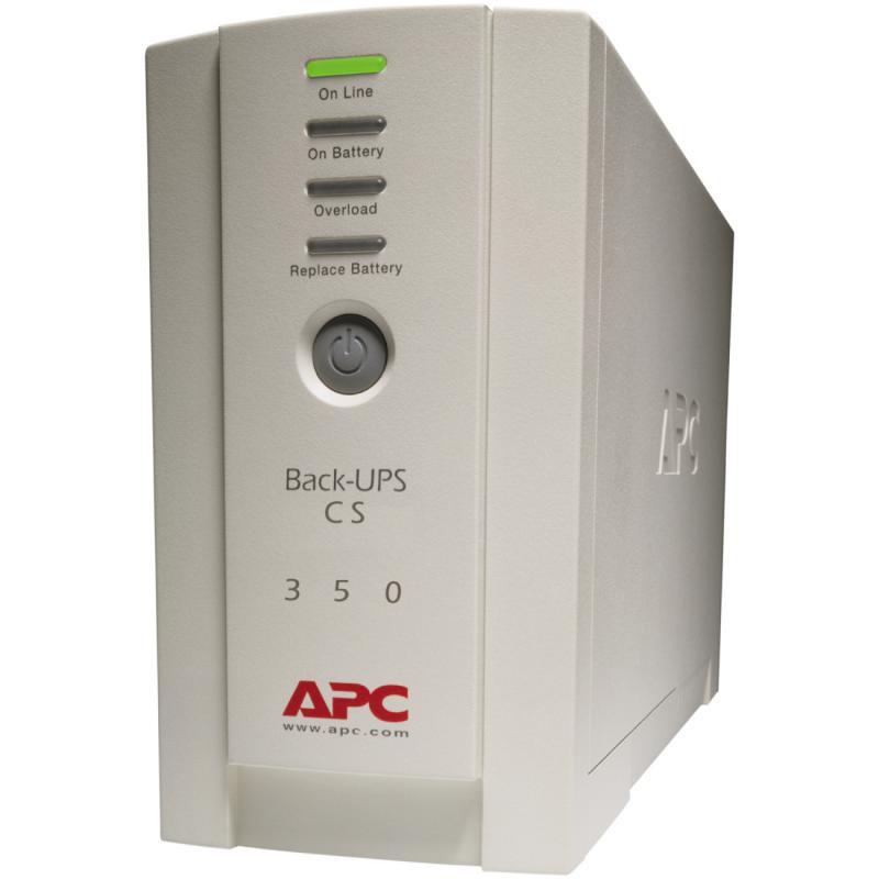 UPS APC Back-UPS CS stand-by 350VA / 210W 4 conectori C13, baterie RBC2 ,optional extindere garantie cu 1/3 ani (WBEXTWAR1YR-SP-01/WBEXTWAR3YR-SP-01) - imaginea 1