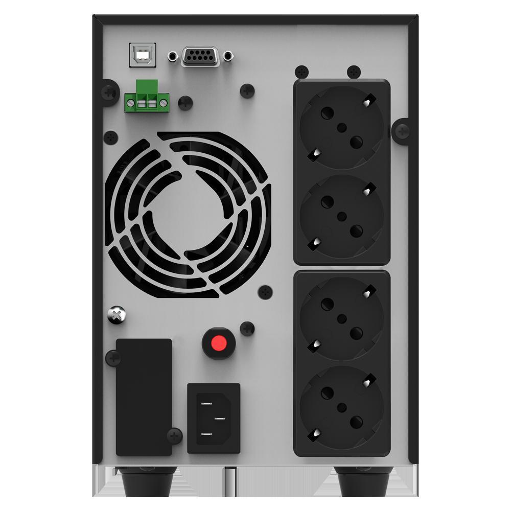 UPS nJoy Echo Pro 2000, 2000VA/1600W, On-line, LED, 3 prize Schuko - imaginea 3