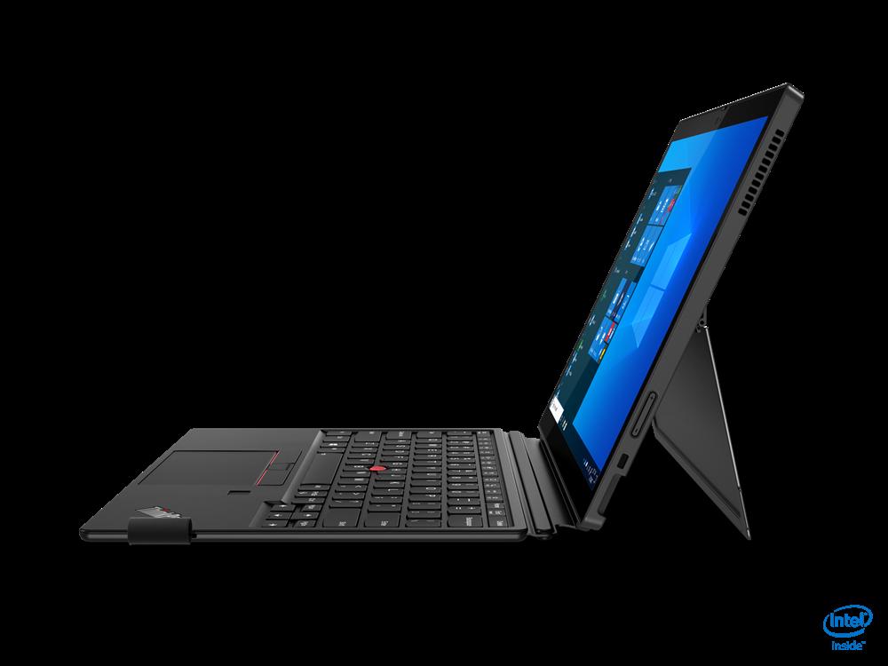 "Laptop Lenovo ThinkPad X12 Detachable, 12.3"" FHD (1920x1280) IPS 400nits AR (anti-reflection) / AS (anti-smudge), Intel Core i5-1130G7 (4C / 8T, 1.8 / 4.0GHz, 8MB), Video Integrated Intel Iris Xe Graphics, RAM 16GB Soldered LPDDR4x-4266, SSD 512GB SSD M.2 2242 PCIe 3.0x4 NVMe, Optical: no ODD, No - imaginea 5"