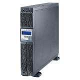 UPS Legrand Daker DK Plus, 1000VA/ 900W tip online cu dubla conversie, forma Rack/Tower, 0.9 capacitate putere, port comunicare-RS-232/USB, 6 x IEC socket, baterie: 3 x 12 V / 7.2 Ah, frecventa baterie (Hz): 50/60 Hz ± 0.1, 230V, dimensiuni (W x D x H mm): 440 x 405 x 88, culoare negru - imaginea 1