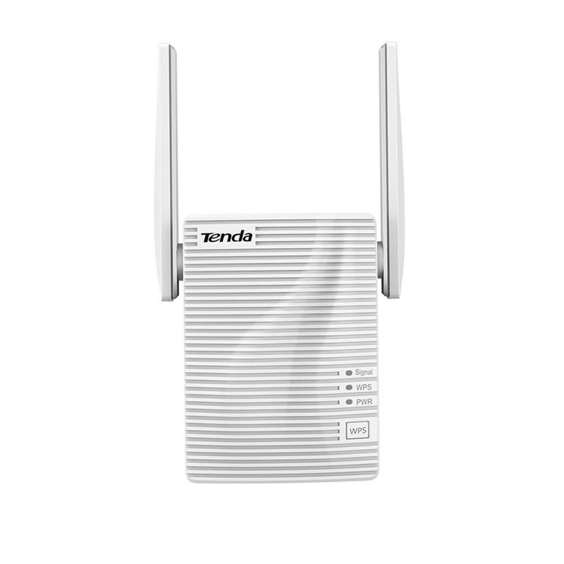 Tenda AC750 Dual Band WiFi Repeater, A15; Interface: 1* Megabit LAN Ethernet ports; Antenna: 2* 2dBi Omni-directional antennas; Wireless Standards: IEEE 802.11n/a/ac/ IEEE 802.11b/g/n; Frequency: 2.4GHz, 5GHz; Wireless Speed: 5GHz Up to 433Mbps/ 2.4GHz Up to 300Mbps; Power: Input - 100-240V—50/60Hz - imaginea 1