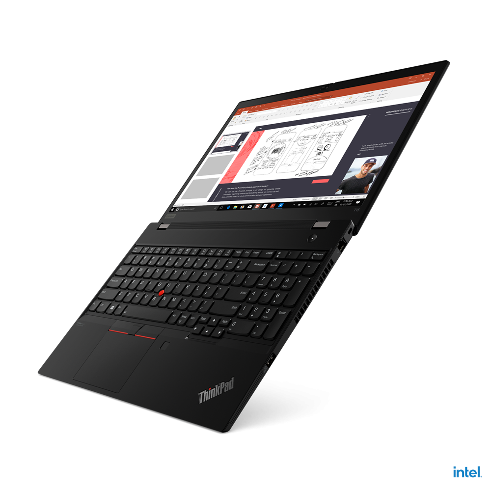 """Laptop Lenovo ThinkPad T15 Gen 2, 15.6"""" FHD (1920x1080) IPS 300nits Anti-glare, Intel Core i7-1165G7 (4C / 8T, 2.8 / 4.7GHz, 12MB), NVIDIA GeForce MX450 2GB GDDR6, RAM 16GB Soldered DDR4-3200, One memory soldered to systemboard, one DDR4 SO-DIMM slot, dual-channel capable, Up to 48GB (16GB soldered - imaginea 11"""