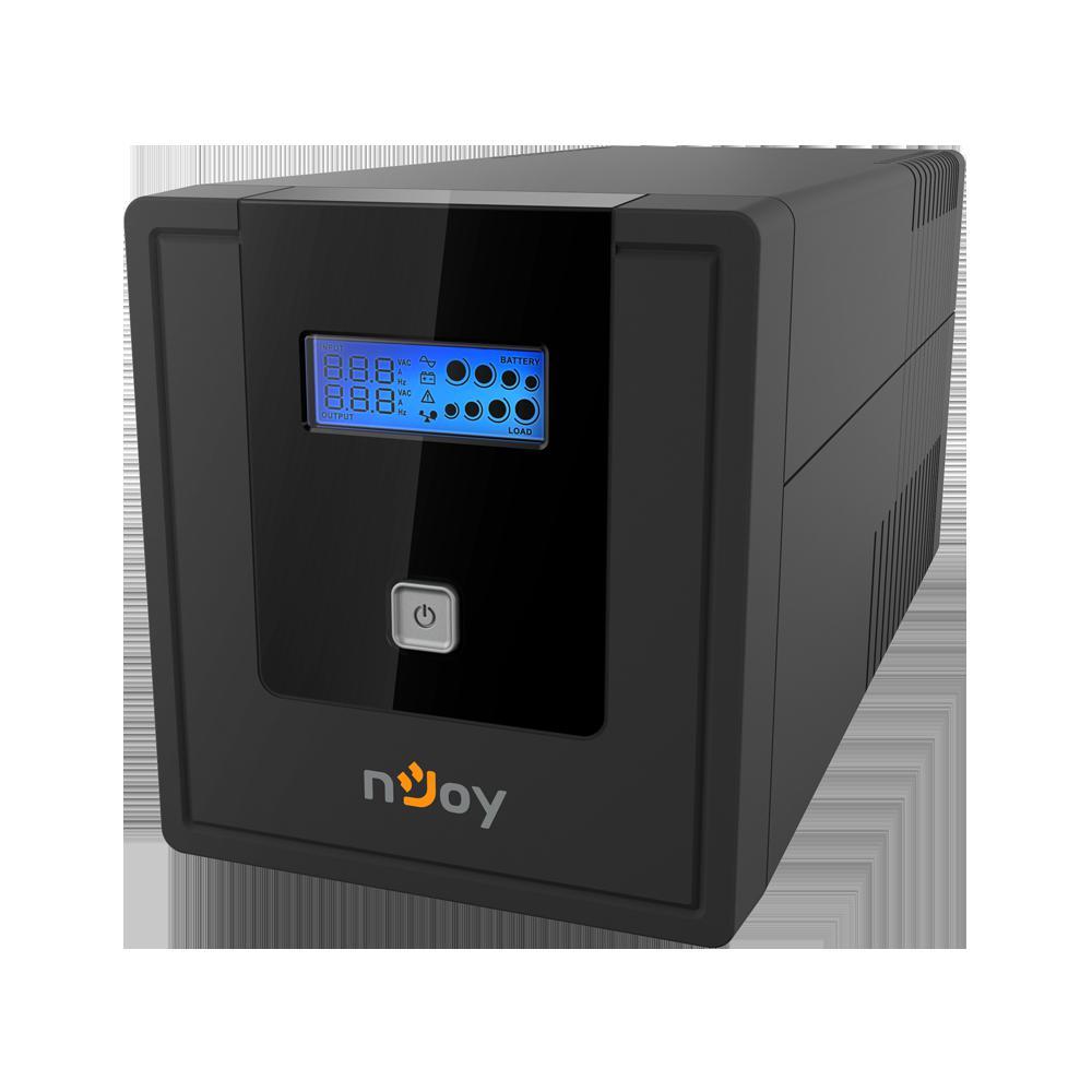 UPS nJoy Cadu 1000, 1000VA/600W, Afisaj LCD cu ecran tactil, 4 x prize Schuko - imaginea 1