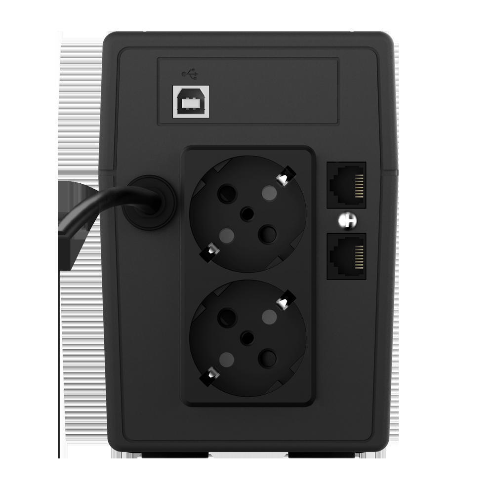 UPS nJoy Cadu 650, 650VA/360W, Afisaj LCD cu ecran tactil, 2 x prize Schuko - imaginea 2