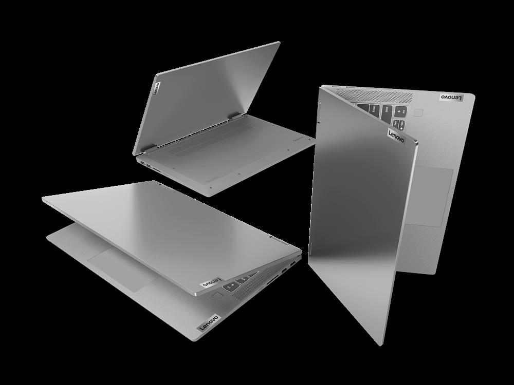 "Laptop Lenovo IdeaPad Flex 514ALC05, 14"" FHD (1920x1080) IPS 250nits Glossy, 45% NTSC, AMD Ryzen 3 5300U (4C / 8T, 2.6 / 3.8GHz, 2MB L2 / 4MB L3), video AMD Radeon Graphics, RAM 8GB Soldered DDR4-3200, SSD 256GB SSD M.2 2242 PCIe 3.0x4 NVMe, no ODD, 4-in-1 Card Reader, Stereo speakers, 2W x2, Dolby - imaginea 17"
