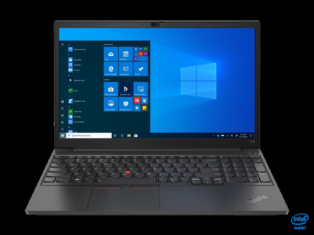 "Laptop Lenovo ThinkPad E15, 15.6"" FHD (1920x1080) WVA 250nits Anti-glare, Intel Core i5-10210U (4C / 8T, 1.6 / 4.2GHz, 6MB), videoIn tegrated Intel UHD Graphics, RAM 8GB SO-DIMM DDR4-2666, SSD 512GB SSDM.2 2242 PCIe NVMe 3.0x4, no ODD, No Card reader, 2W x 2, DolbyAdvanced Audio / dual array - imaginea 1"