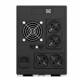 UPS nJoy Cadu 1500, 1500VA/900W, Afisaj LCD cu ecran tactil, 4 x prize Schuko - imaginea 2