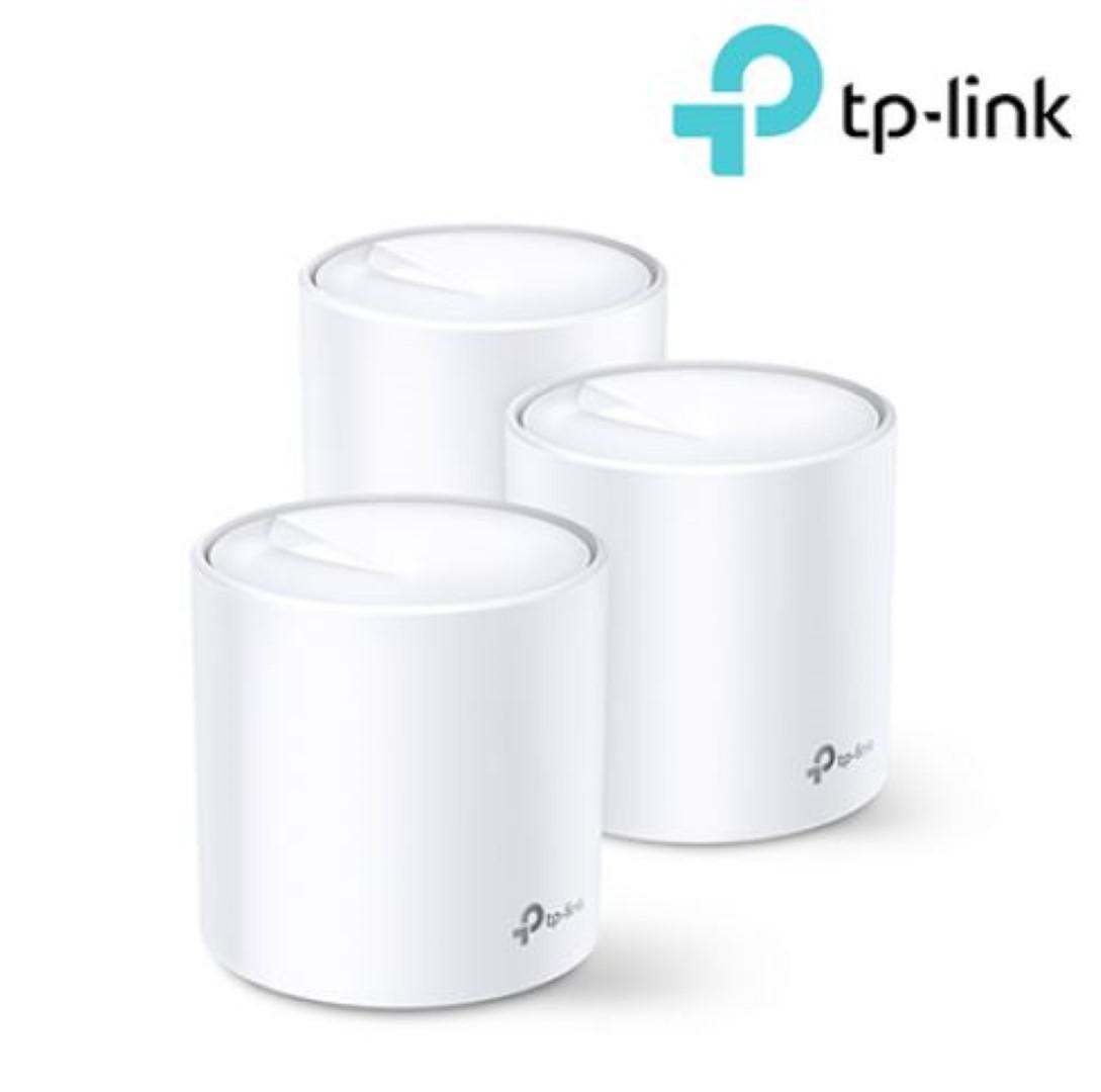 TP-Link AX1800 whole home mesh Wi-Fi 6 System, Deco X20(3-pack); Wireless Standards: IEEE 802.11a/n/ac/ax 5GHz, IEEE 802.11b/g/n/ax 2.4GHz, Signal Rate: 575 Mbps on 2.4GHz, 1200 Mbps on 5GHz, 1024QAM on 2.4GHz and 5GHz, 2 X 10/100/1000 Mbps RJ45 ports, Working Mode: Router, Access Point, 4 internal - imaginea 1