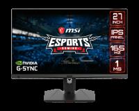 "Monitor Gaming 27"" MSI Optix MAG274R2, Flat, LED, Panel Type IPS, FHD 1920 x 1080, 165Hz, 16:9, Anti-glare, Display colors 1.07B (8bits + FRC), G-sync Compatible, Frameless design, 1ms (MPRT), 300 cd/m², 1000:1 static / 100000000:1 dinamic, 178° (H) / 178° (V), Porturi: 1x Display Port (1.2a), 2x - imaginea 1"