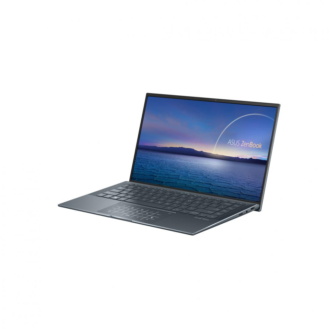 UltraBook ASUS ZenBook UX435EG-A5044T, 14.0-inch, FHD (1920 x 1080) 16:9, Anti-glare display, IPS-level, Intel® Core™ i7-1165G7 Processor 2.8 GHz (12M Cache, up to 4.7 GHz, 4 cores), NVIDIA® GeForce® MX450, 16GB LPDDR4X on board, 1TB M.2 NVMe™ PCIe® 3.0 Performance SSD, Wi-Fi 802.11ax+Bluetooth 5.0 - imaginea 1