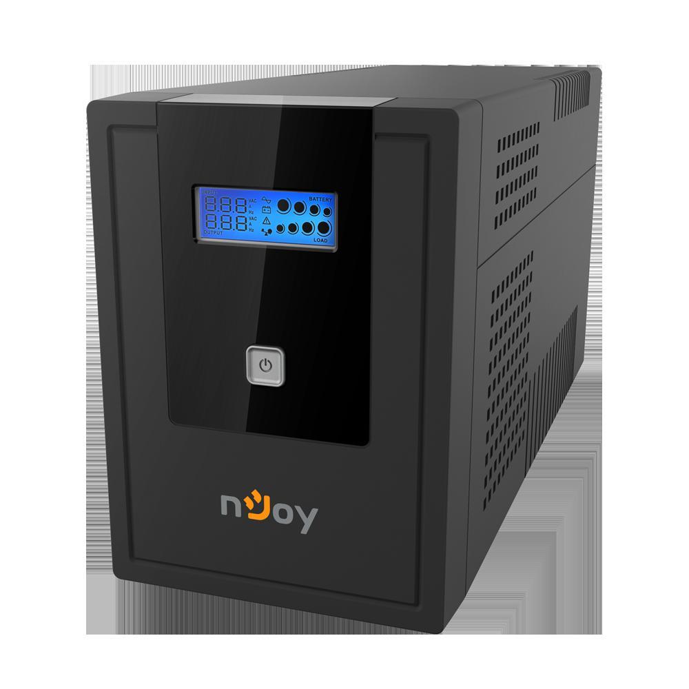 UPS nJoy Cadu 2000, 2000VA/1200W, Afisaj LCD cu ecran tactil, 4 x prize Schuko - imaginea 1