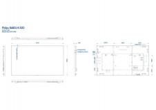 "Ecran profesional LFD Monitor Signage Philips 86"" Ultra HD 4K LED Display, 500cd, powered by Android, Quad Core + Dual Core SoC, Mem 4GB, Storage 16GB, Dual Band WiFi, optional 4G - imaginea 1"