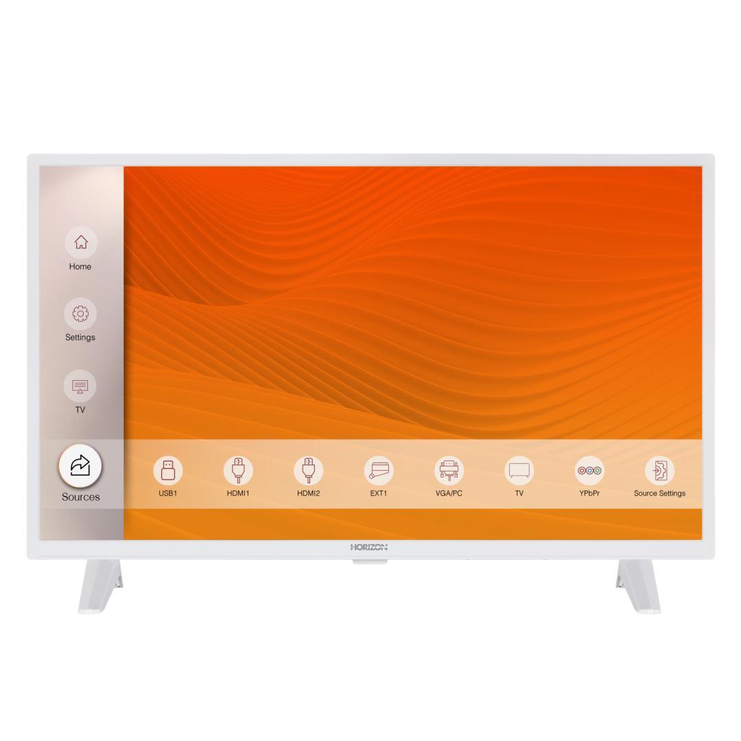 "LED TV HORIZON 32HL6301H/B, 32"" D-LED, HD Ready (720p), Digital TV-Tuner DVB-S2/T2/C, CME 100Hz, Contrast 4000:1, 300 cd/m2, 1xCI+, 2xHDMI (v1.4), 1xD-Sub (15-PIN), USB Player (AVI, MKV, H.265/HEVC, JPEG), Hotel TV Mode (Passive), VESA 75 x 75 mm   M4, Double Neck-Foot Stand, Very Narrow Design - imaginea 1"