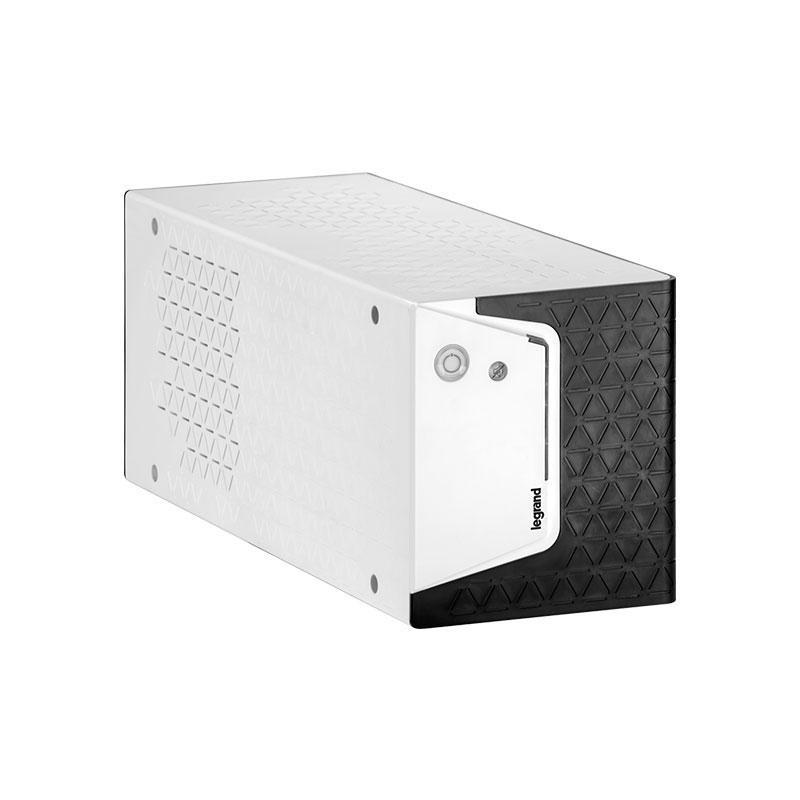 UPS Legrand KEOR SP 800, 800VA/480W, 1x IEC + 1x German standard sockets, USB HID tip B, stabilizator electronic (AVR), baterie 1 x 12V/ 9 Ah, 230V, forma sinusoidala simulata in forma de unda, tehnologie Line interactive VI, interfata RGB LED bar (verde/ portocaliu/ rosu), dimensiuni 120 x 330 x - imaginea 3