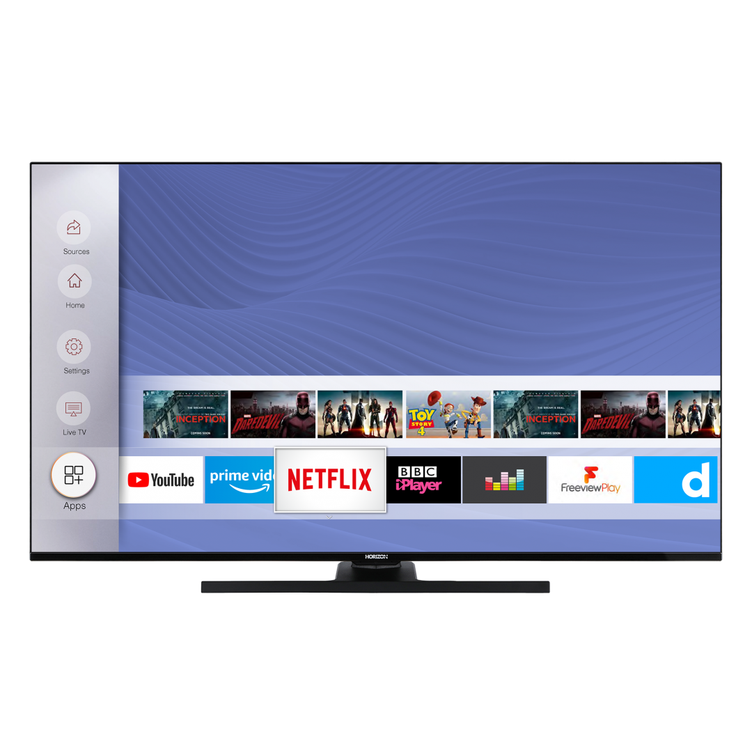 "LED TV HORIZON 4K-SMART 55HL8530U/B, 55"" D-LED, 4K Ultra HD (2160p), HDR10 / HLG + MicroDimming, Digital TV-Tuner DVB-S2/T2/C, CME 400Hz, HOS 3.0 SmartTV-UI (WiFi built-in) +Netflix +AmazonAlexa +Youtube, 1xLAN (RJ45), Wireless Display, DLNA 1.5, Contrast 6000:1, 350 cd/m2, 1xCI+, 3xHDMI, 1xUSB - imaginea 1"