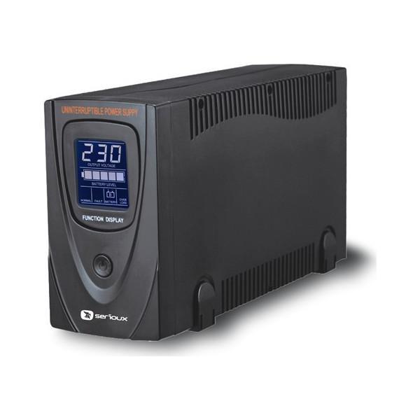 UPS Serioux, ProtectIT 650LS, 650VA, >12min back-up (half load), 2 porturi schuko, ecran LCD, negru - imaginea 1