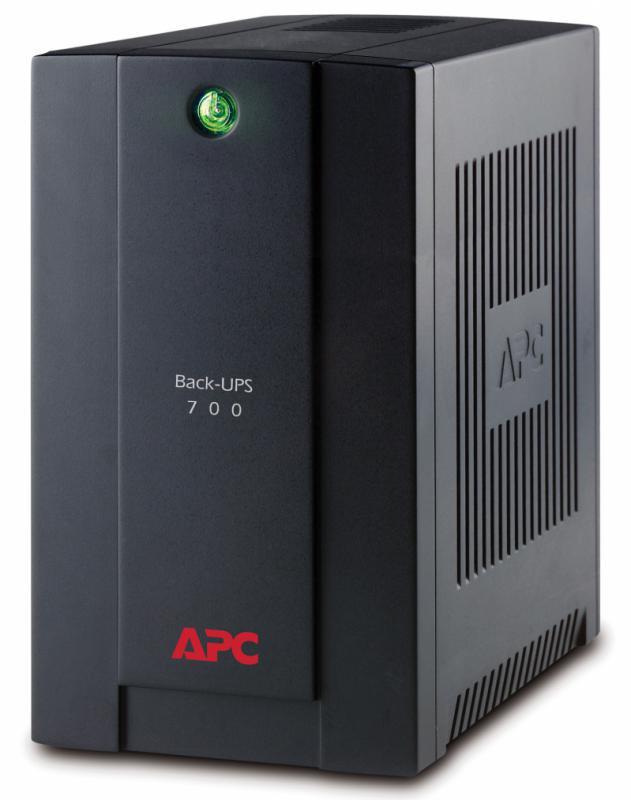 UPS APC Back-UPS BX line-interactive / aprox.sinusoida 700VA / 390W 4conectori Schuko CEE7, baterie APCRBC110, optional extindere garantie cu1/3 ani (WBEXTWAR1YR-SP-01/WBEXTWAR3YR-SP-01) - imaginea 1