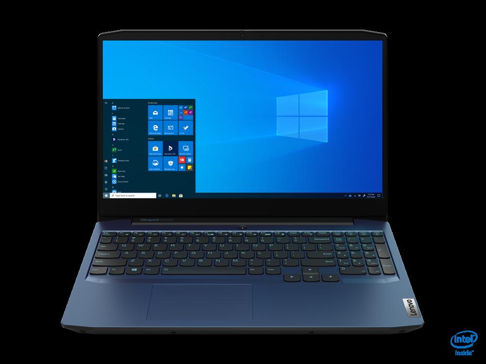 "Laptop Lenovo IdeaPad Gaming 3 15IMH05, 15.6"" FHD (1920x1080) IPS 250nits Anti-glare, 60Hz, Intel Core i5-10300H (4C / 8T, 2.5 / 4.5GHz, 8MB), video NVIDIA GeForce GTX 1650 Ti 4GB GDDR6, RAM 2x 8GB SO-DIMM DDR4-2933, SSD 512GB SSD M.2 2280 PCIe 3.0x4 NVMe, no ODD, No Card reader, Stereo speakers - imaginea 1"