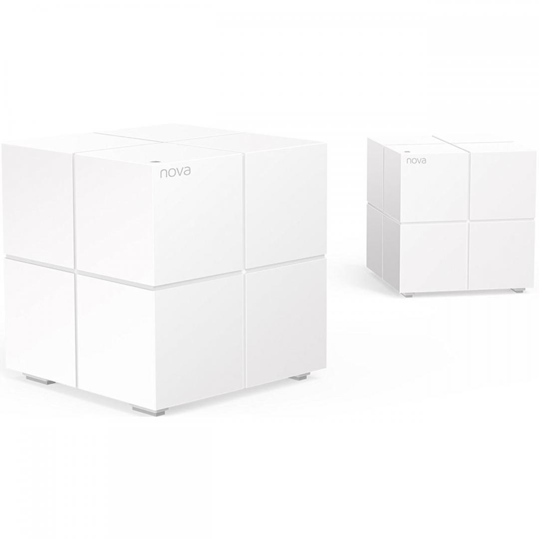 Tenda Whole Home Mesh WiFi System, MW6; 2 PACK ,Standard and Protocol: IEEE802.3, IEEE802.3ab; Interface: 2* Gigabit Ethernet ports per mesh point, WAN and LAN on primary mesh point, both act as LAN ports on additional mesh points; Wireless Standards: IEEE 802.11ac/a/n 5GHz/ IEEE 802.11b/g/n 2.4GHz - imaginea 1