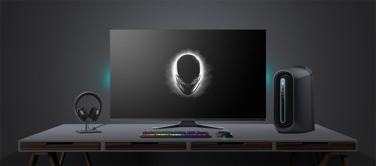Monitor Gaming Dell 54.6'' AW5520QF, 138.78 cm, OLED, 4k UHD, 3840 x 2160 at 120Hz, 16:9 - imaginea 3