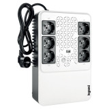 UPS Legrand MULTIPLUG 600, 600VA/360W, 6x German standard sockets, USB charger, baterie 1x 12V 7.2Ah, 230V, tehnologie Line interactiv, dimensiuni 190 x 89.5 x 296mm
