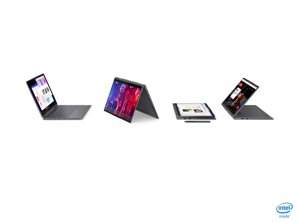 """Laptop Lenovo Yoga 7 15ITL5, 15.6"""" FHD (1920x1080) IPS 500nits Glossy, 100% sRGB, HDR 400, Dolby Vision, AGC Soda-lime glass, Intel Core i7- 1165G7 (4C / 8T, 2.8 / 4.7GHz, 12MB), video Integrated Intel Iris Xe Graphics, RAM 16GB Soldered DDR4-3200, SSD 1TB SSD M.2 2280 PCIe 3.0x4 NVMe, no ODD, No - imaginea 9"""