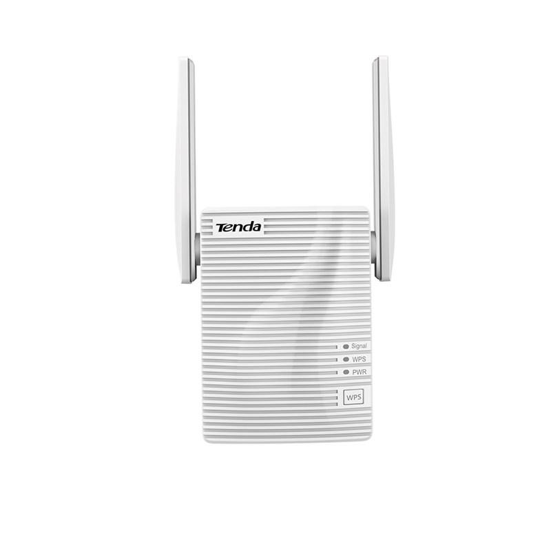 TENDA Extender Boost AC1200 WiFi for whole home, A18; Port: 1*10/100 Mbps RJ45; Standard and Protocol: IEEE 802.11a, IEEE 802.11n, and IEEE 802.11ac wave2 on 5 GHz/ IEEE 802.11b, IEEE 802.11g, and IEEE 802.11n on 2.4 GHz; Frequency Band: 11n: 2.412-2.484 GHz/ 11ac: 5.15-5.25 GHz; Antenna: 2* - imaginea 1