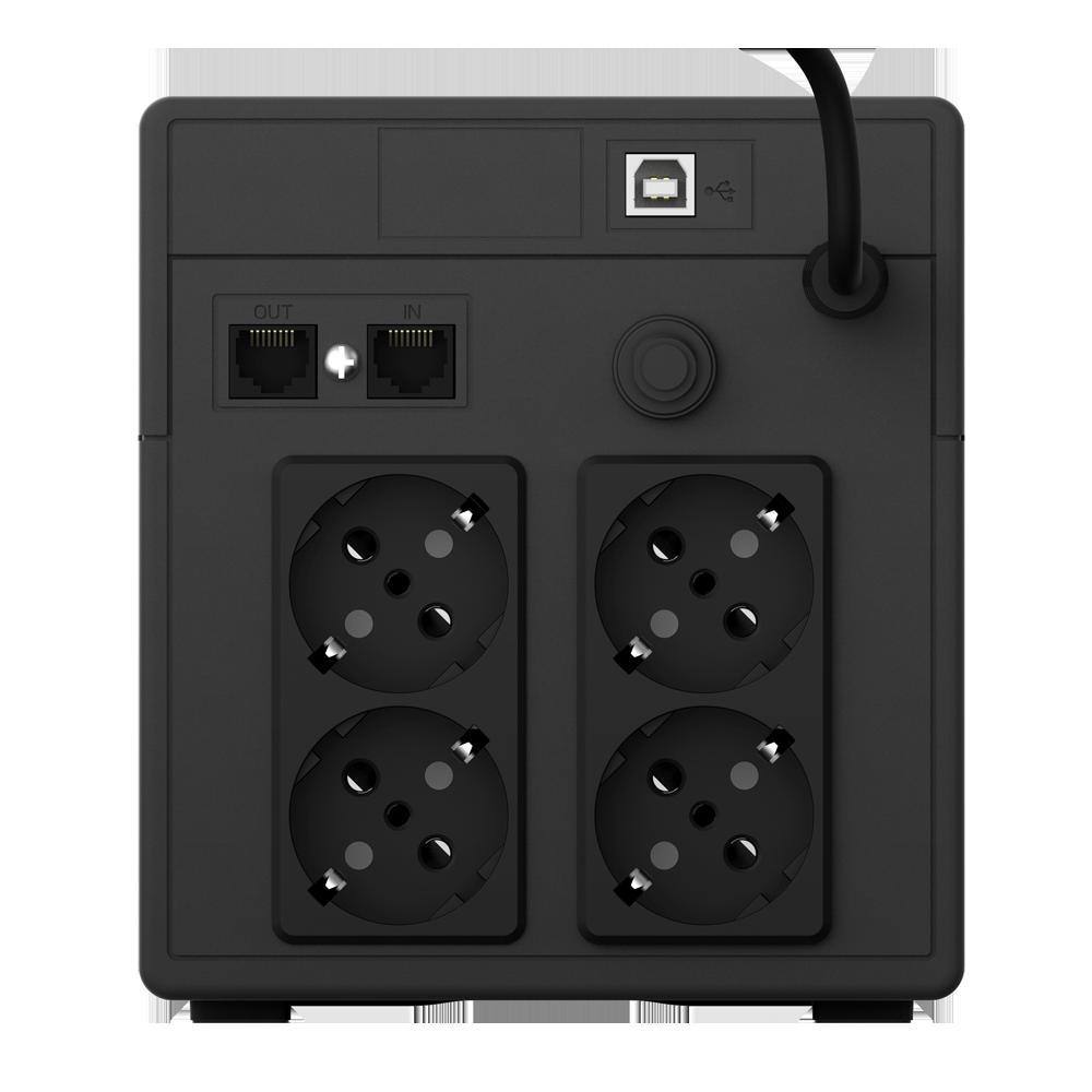 UPS nJoy Cadu 1000, 1000VA/600W, Afisaj LCD cu ecran tactil, 4 x prize Schuko - imaginea 2