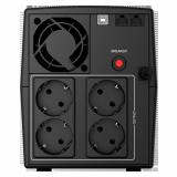 UPS nJoy Keen 1000 USB UPLI-LI100KU-CG01B  Capacity 1000 VA / 600 W Simulated sinewave - imaginea 2