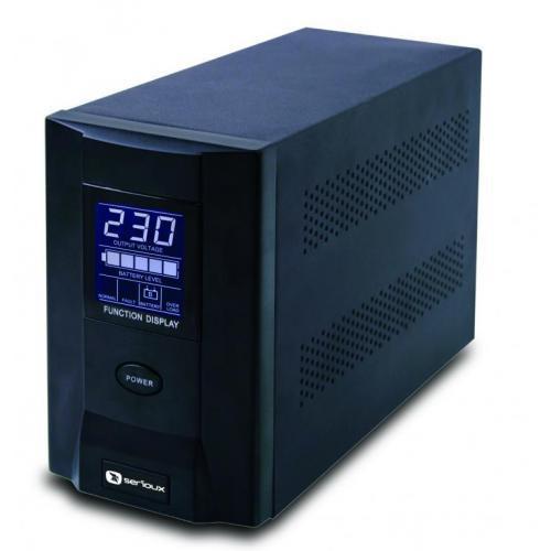 UPS Serioux, ProtectIT 1000S, 1000VA, >8min back-up (half load), 2 baterii, 2 porturi schuko, ecran LCD, negru - imaginea 1