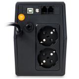UPS nJoy Horus Plus 800, 800VA/480W, Afisaj LCD cu ecran tactil,2 Prize Schuko cu Protectie, Repornire Automata, RJ11 protectie pentru linia de telefon/modem, Posibilitatea de monitorizare si control prin USB, LAN si internet, port de comunicare USB, rata de eficienta pana la 90% - imaginea 3