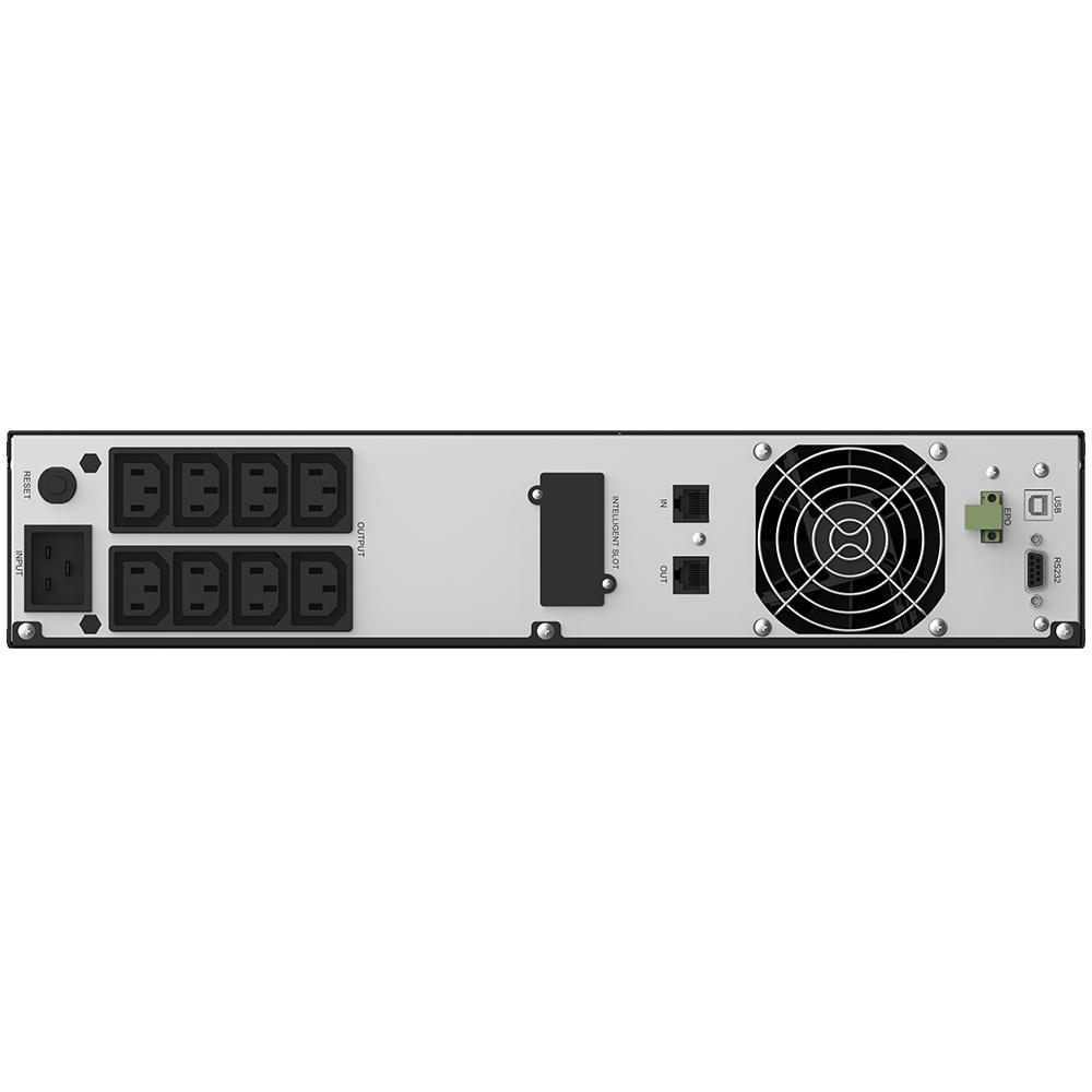UPS nJoy Argus 3000, 3000VA/1800W, LCD Display, 8 IEC C13 cu Protectie, Management, Reglaj Automat al Tensiunii, iesire sinusoidala pura, rack 2U - imaginea 4