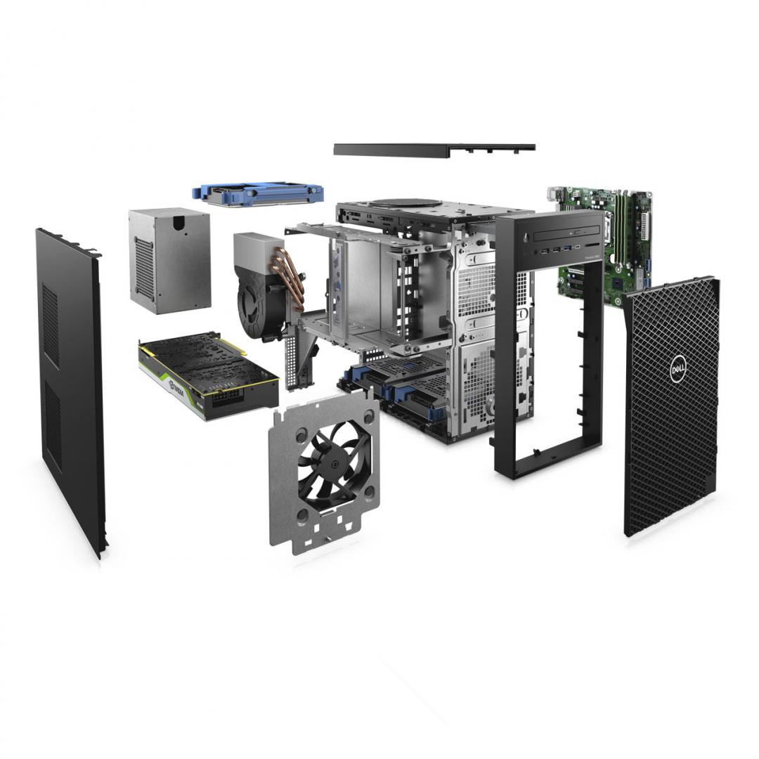 Dell Precision 3640 Tower, i9-10900K, 16GB, 256GB SSD, Nvidia Quadro RTX 4000, Ubuntu - imaginea 2