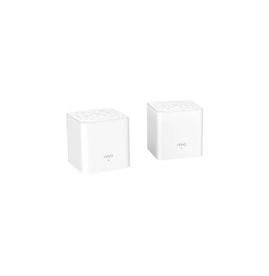 Tenda AC1200 Whole Home Mesh WiFi System, MW3 (2pack); Standard and Protocol: IEEE802.3, IEEE802.3u; Interface: 2 Ethernet ports per mesh node/ WAN and LAN on primary mesh node/ Both act as LAN ports on additional mesh nodes; Wireless Standards: 2.4G: 2400MHz-2483MHz/ 5G: 5150MHz-5250MHz or - imaginea 1