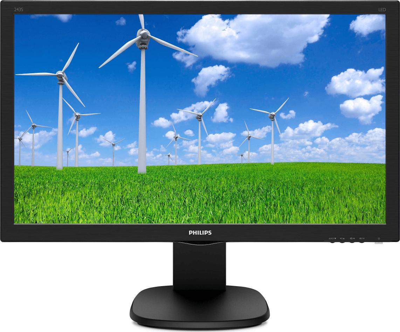 "Monitor 23.6"" PHILIPS 243S5LJMB, TFT-LCD, WLED, FHD 1920*1080, 1 ms ,16:9, 60 Hz, 170/160, 10M:1/ 10 - imaginea 1"