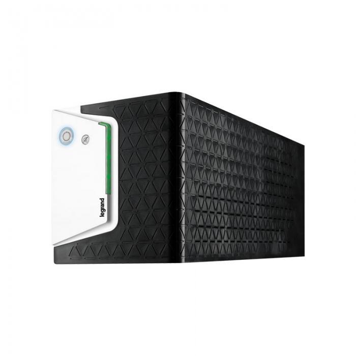 UPS Legrand KEOR SP 1500, 1500VA/ 900W, 2x IEC + 2x German standard sockets, USB HID, baterie 2x 12V 9Ah, stabilizator electronic (AVR), 230V, forma Tower, tehnologie Line interactiv, dimensiuni 148 x 173 x 380mm - imaginea 1
