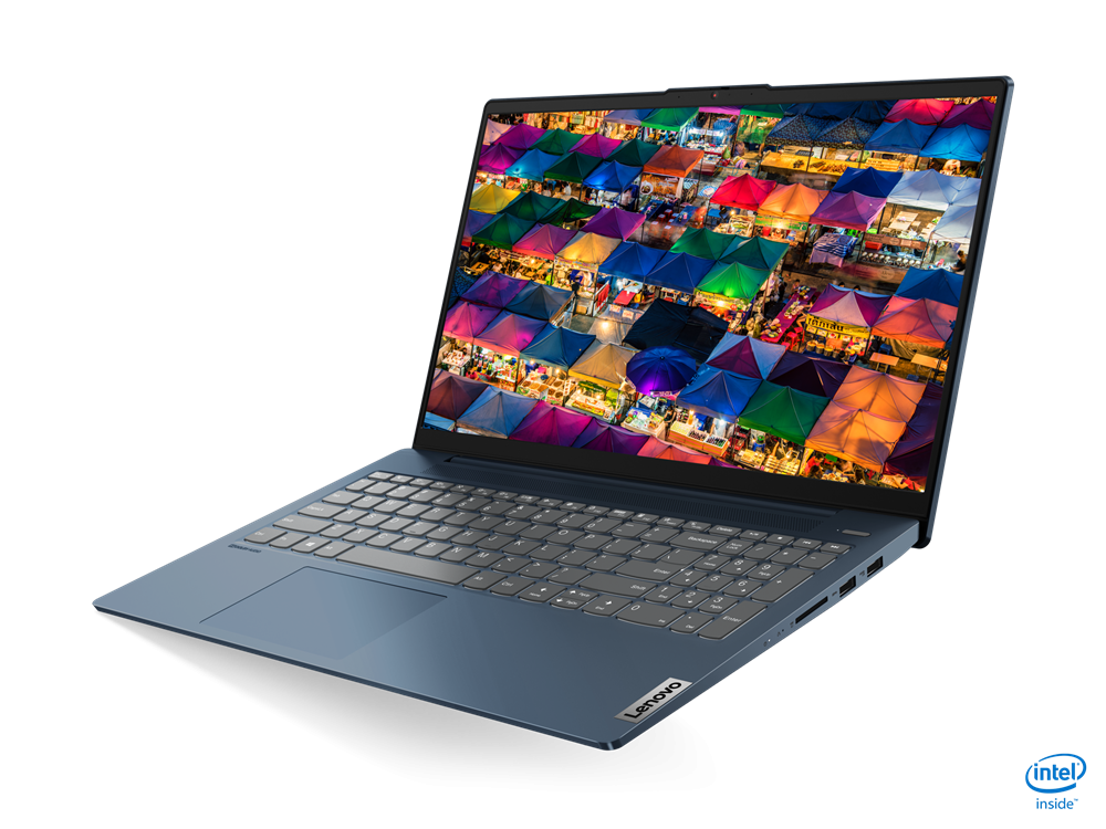 """Laptop Lenovo IdeaPad 5 15ITL05, 15.6"""" FHD (1920x1080) IPS 300nits Anti- glare, 45% NTSC, Intel Core i5-1135G7 (4C / 8T, 2.4 / 4.2GHz, 8MB), video Integrated Intel Iris Xe Graphics, RAM 8GB Soldered DDR4-3200, SSD 512GB SSD M.2 2242 PCIe 3.0x2 NVMe, no ODD, 4-in-1 Card Reader, Stereo speakers, 2W - imaginea 3"""